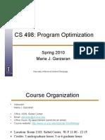 CS 498 - Program Optimization
