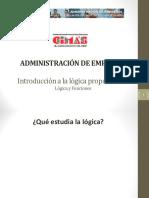 01. Introducción a La Lógica - Diapositiva - Administración de Empresas - Copia