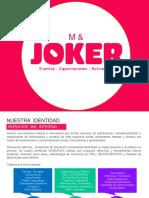 M & JOKER Brochure - Productora de eventos