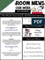 weekly newsletter  powerpoint  this week