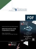 Teatro VRLI - Ballet Nacional Gira 2018 Fundamento e Impulso