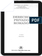 Derecho Privado Romano. Alfredo Di Pietro