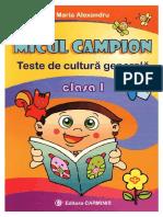 Micul.campion Teste.de.Cultura.generala Clasa.1 Ed.carminis TEKKEN