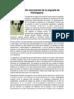 Investigación Documental de La Angustia de Kierkegaard