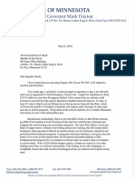 Veto letter Dayton to Daudt