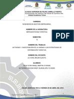 ACTIVIDAD 1- INVESTIGACIÓN DE LA UNIDAD 4 LAS ESTRATEGIAS DE DISTRIBUCIÓN TURISTICA.