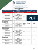 NCM 2018 Calendar of Courses