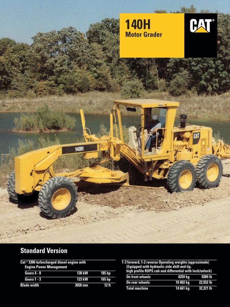 CARACTERISTICAS 140H pdf | Manual Transmission