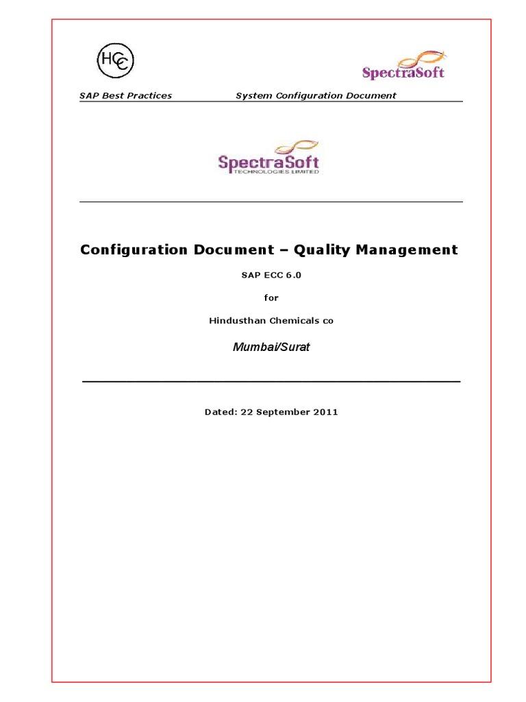 Sap Qm Configuration Guide   Subroutine   Menu (Computing)