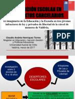 Deserción Escolar en Contextos Carcelarios - 2017