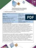 Syllabus del curso Introducción a la Licenciatura en Ingles como Lengua Extranjera