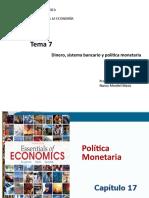Tema 7.3.Cap.17-Política monetaria