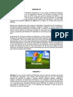 WINDOWS XP, 7 y 10