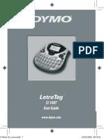 Dymo - Letratag - LT-100T - Manual