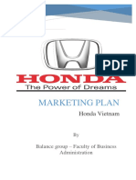 Marketing Plan - Honda Vietnam