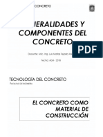 TEMA 01 - Generalidades Del Concreto - UNC