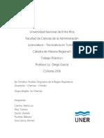 Trabajo Práctico Charrúas. Cátedra de Historia Regional I - Licenciatura en Turismo - FCAD - UNER