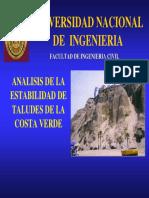 Taludes Costa Verde