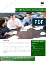 Mastering the Art of Effective Communication ILM Endorsed