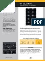 Solar Panel Data Sheet