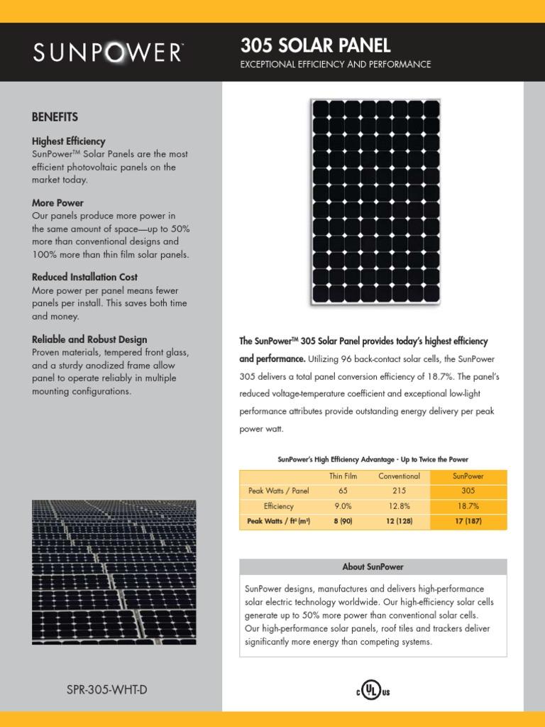 Solar Panel Data Sheet   Solar Panel   Solar Cell