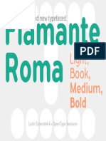 Flamante Roma Specimen