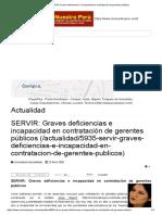 SERVIR_ Graves Deficiencias e Incapacidad en Contratación de Gerentes Públicos