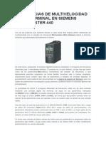 Referencias de Multivelocidad Desde Terminal en Siemens Micromaster 440