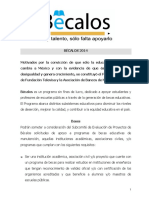 Bases Convocatoria Bécalos 2014 22042014