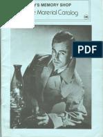 Roy's Memory Shop Movie Material Catalog 18