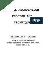 Craver Charles B.-legal Negotiation Process and Techniques