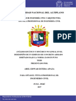 ANÁLISIS ESTÁTICO Y DINÁMICO NO LINEAL EN EL DESEMPEÑO DE UN EDIFICIO DE CONCRETO ARMADO DISEÑADO BAJO LA NORMA E-030