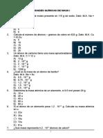 Hoja 19 Cálculos Químicos I