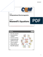 Lecture 2 -- Maxwell's Equations