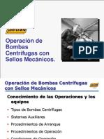Operación de Bombas Centrífugas Con Sellos Mecánicos