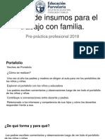 Baterìa de Insumos Para El Trabajo Con Familia.