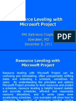 Resource Leveling with  Microsoft Project.ppt