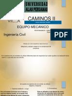 Caminos II(a).Equipo Mecanico