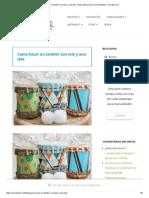 Como Hacer Un Tambor Con Tela y Una Lata - Blog Material Para Manualidades _Con Idea de..