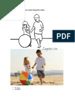 Catalogo de poses para una sesión fotográfica infantil