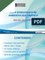 [PD] Presentaciones - Plan Estrategico de Gobierno Electronico