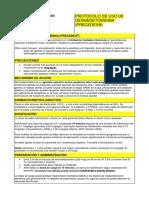 Protocolo de Uso. Dexmedetomidina