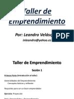 Taller de Emprendimiento - Memorias