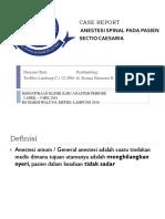 General Anesthesi pada Pasien Sectio Caesaria