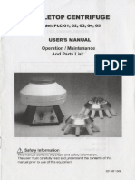 Eickemeyer PLC Centrifuge - User and Service Manual