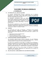 Especificaciones Técnicas de Cerco Perimétrico-Arquitectura