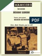 EL MANICERO. Son variado. (Moises Simons). Transc. para piano por Gerardo Betancourt.