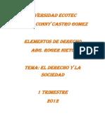 RELACION SOCIEDAD Y  Derecho - HJ