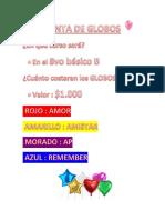 Cartel de Venta de Globos