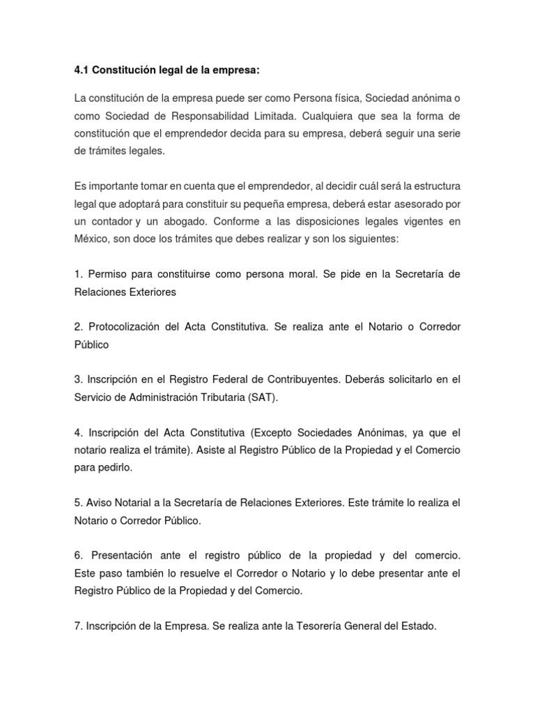 4 1 Constitucion Legal De La Empresa Toma De Decisiones